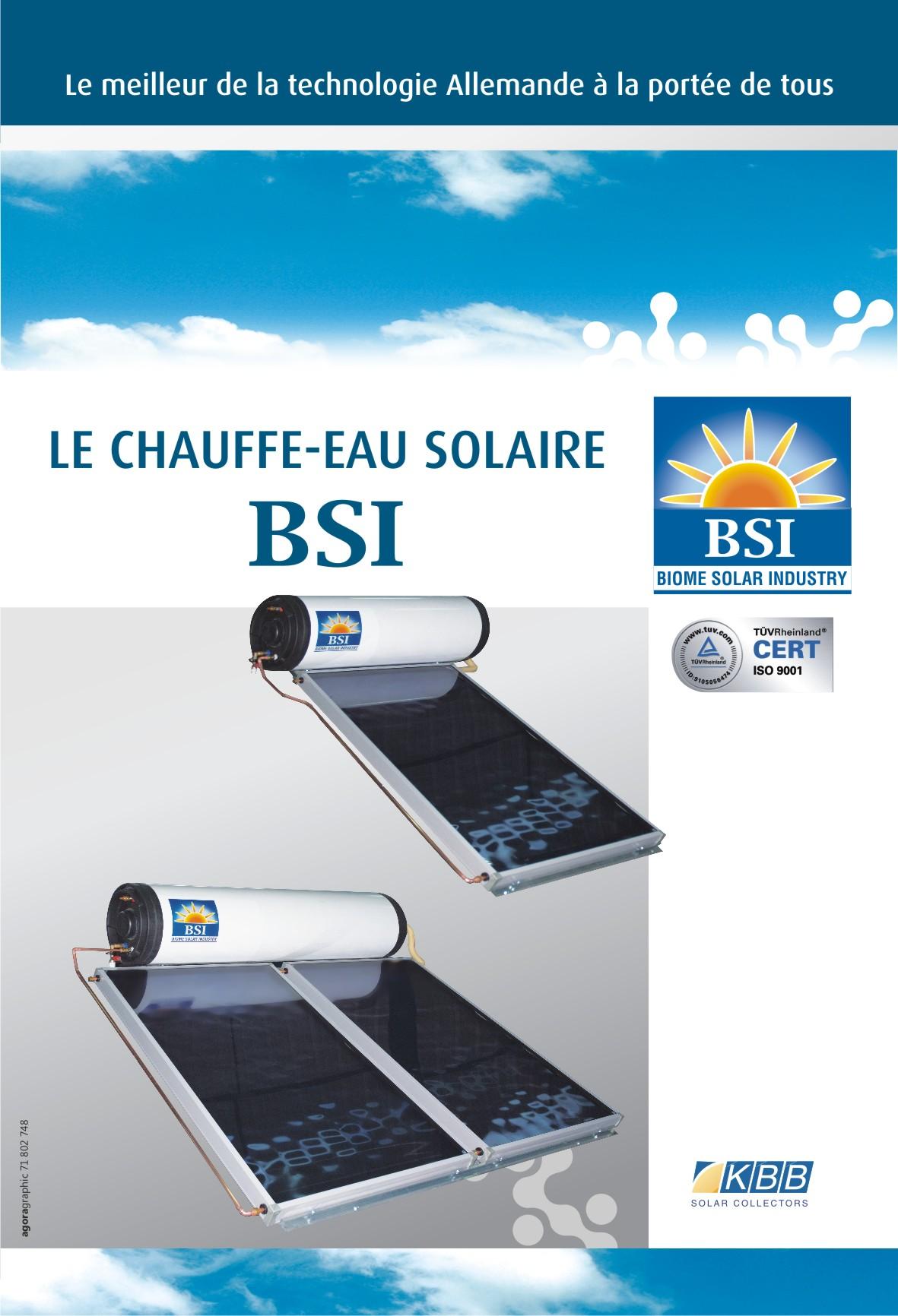 Le chauffe eau solaire bsi nos produits for Le meilleur chauffe eau
